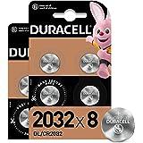 Duracell - Pilas de botón de litio 2032 de 3 V, paquete de 8, con Tecnología Baby Secure, para uso en llaves con sensor magné