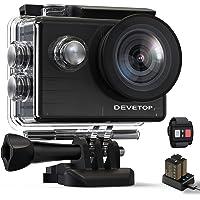 DEVETOP Glory60 Action Cam 4K 20MP Ultra HD Sportskamera 40M Wasserdicht Unterwasserkamera 170° Weitwinkel WiFi 2.4G…