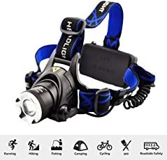 SHOPEE Branded New ZY19 Headlamp Headlight Weatherproof LED Flash Light for Camping Cycling Caving Hiking Hunting with 2 4800MAh Rechargeable Battery