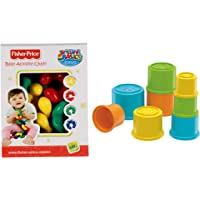 Fisher-Price Baby Activity Preschool Infant Chain India (Multi Color) & Fisher Price Stacking Cups