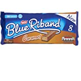 Blue Riband Milk Chocolate Caramel Wafer Biscuit Bar Multipack, 8 x 20g