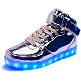 DoGeek LED Chaussures Lumineuse Lumière Basket LED- Homme Femme LED Basket Mode- 7 Couleur Lumière Chaussures-USB Charger
