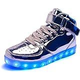 DoGeek Scarpe Uomo Adulto Unisex LED Luminosi Sneakers con Le Luci Accendono Scarpe Running