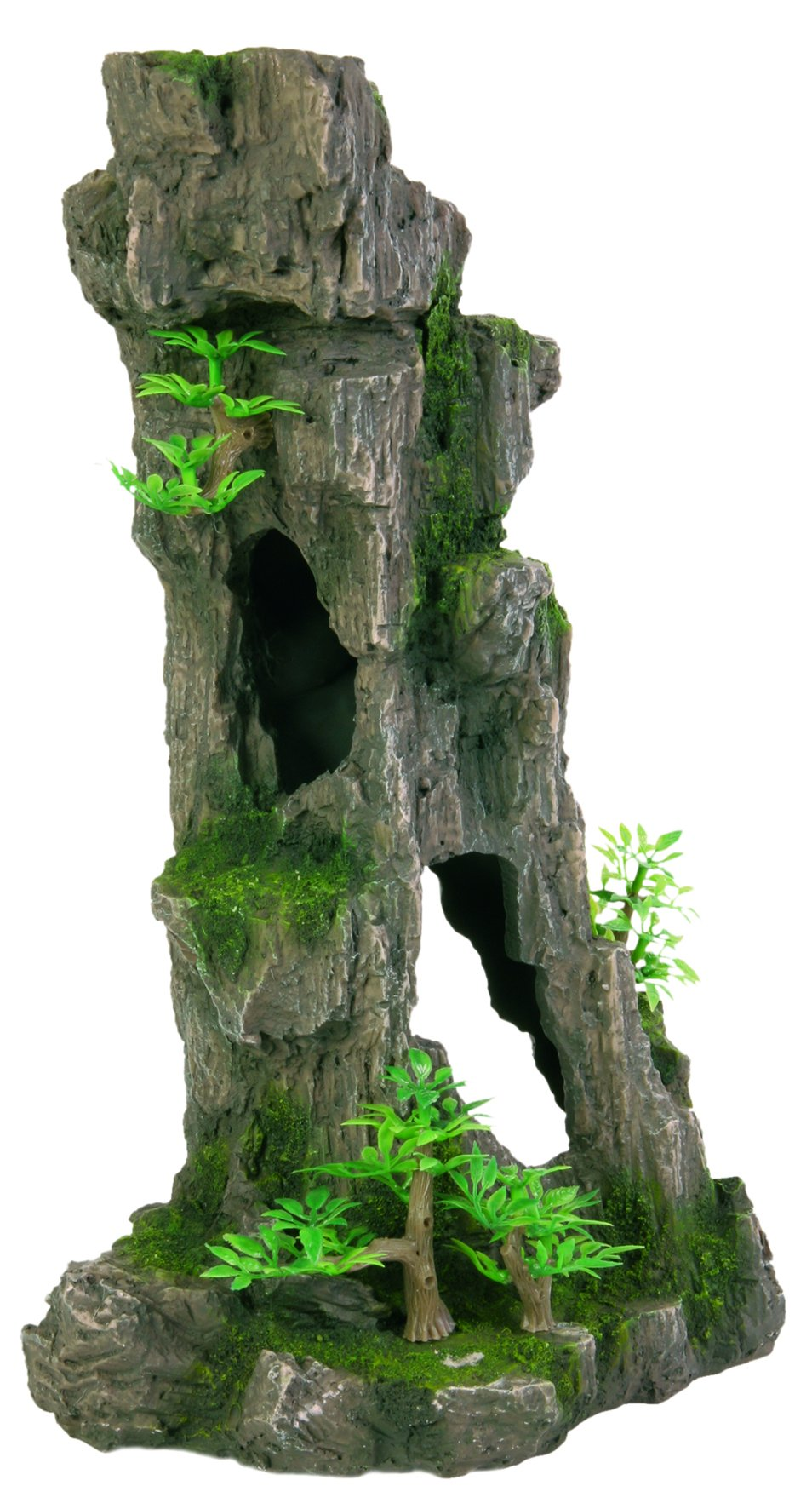 Trixie 8857 Aquarium Decoration Rock Formation with Caves / Plants Upright 28 cm