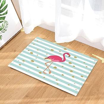 Amazon De Gohebe Tropische Tiere Bad Teppiche Pink Flamingo Auf