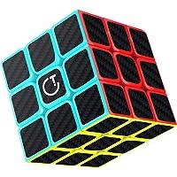 Cube Magique, Gritin 3x3x3 Speed cube de Vitesse Magique Lisse Facile à Tourner pour Jeu d'entraînement Cérébral ou Cadeau de Vacances