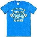 Click My Clobber Voici à Quoi Ressemble Le Meilleur Joueur de Fléchettes du Monde T-Shirt en Coton
