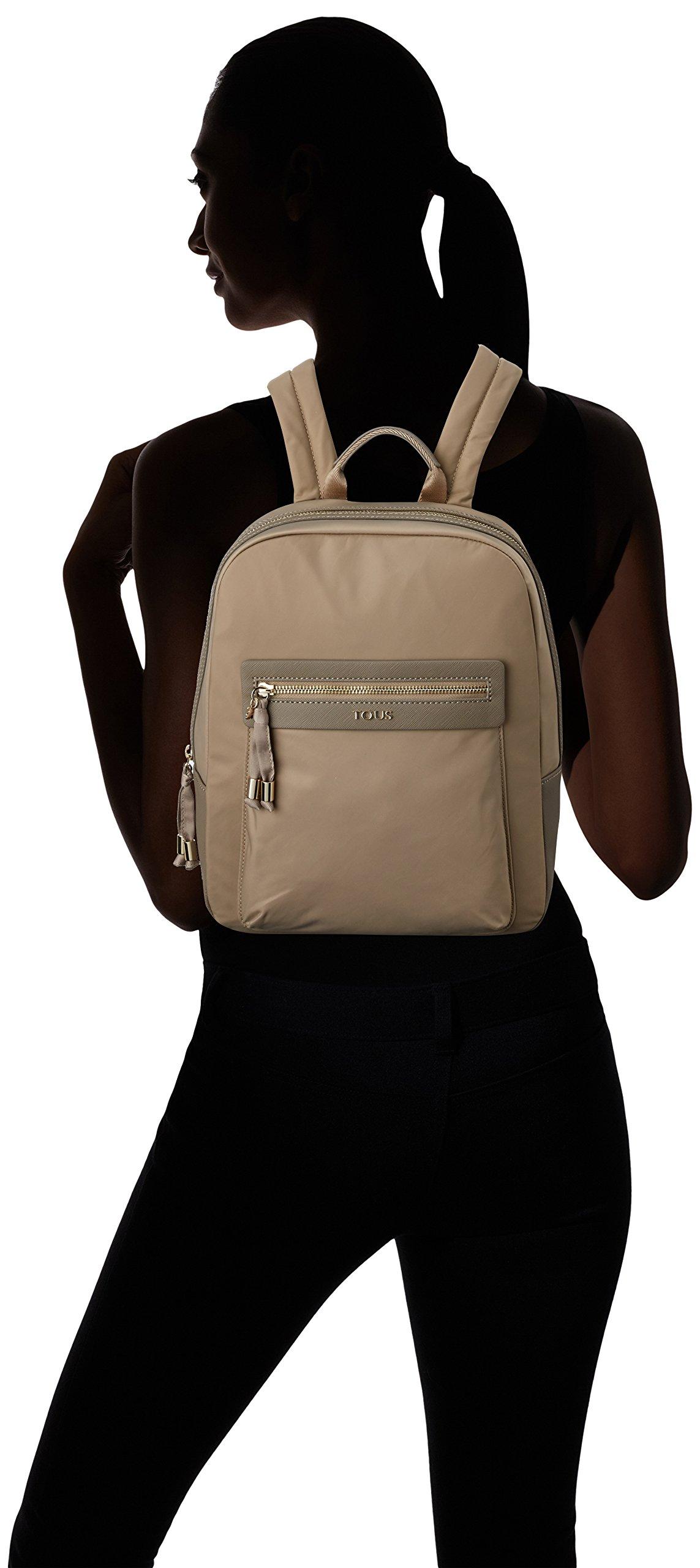 71ypxCn3gWL - Tous 695810088, Bolso mochila para Mujer, Beige (Topo), 26x33x9.5 cm (W x H x L)
