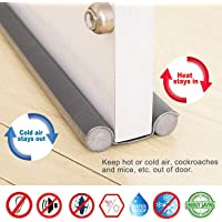 Smart Saver Vinyl Sound-Proof Reduced Noise Energy Saving Draft Stopper Door Weather Stripping (36 inch) - Pack of 4