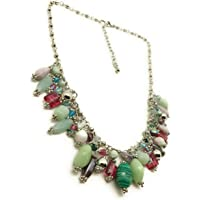Dca Multi Glass Necklace for Women (4452)