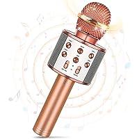 Tesoyzii Microphone sans Fil Bluetooth pour Enfants, Microphone Karaoké pour Android/iPhone/iPad/Sony/PC- Meilleurs…