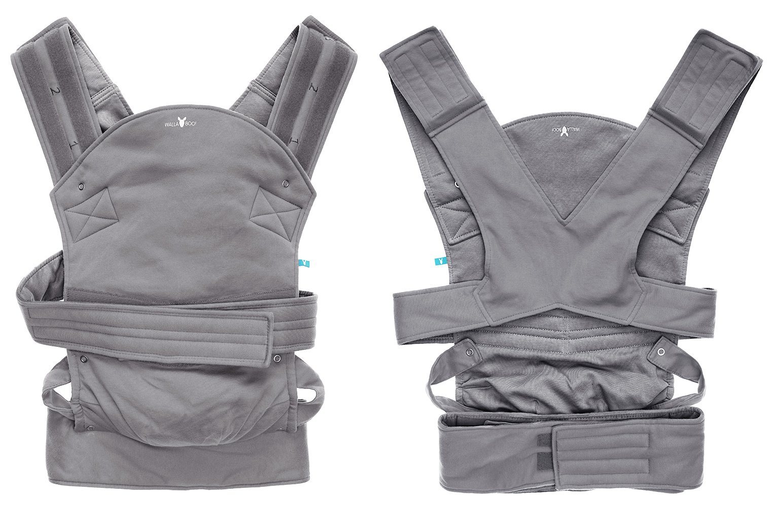 Wallaboo Baby carrier Ease, Hig Quality, Easy Adjustable and Ergonomic Front Carrier, 2 carrying poitions, Strong 100% cotton, Newborn 8lbs to 33lbs, Colour: Grey Wallaboo Ergonomic carrying with wide leg position (m-position) Sturdy waist belt and padded shoulder straps. Age suitability: babies from 3,5kg / 8 lbs to 15kg / 33 lbs. Walla boo baby carrier is made with 100% breathable cotton, makes baby feel comfortable and cozy 4