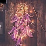 Grab Classy Cotton Dream Catcher (4.7 x 13.8 inch, Purple)