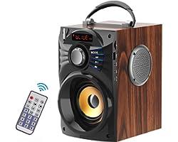 KATPOSIN Portable Bluetooth Speaker Subwoofer Heavy Bass Wireless Speaker Outdoor/Indoor Party Loudspeaker Rechageable Remote
