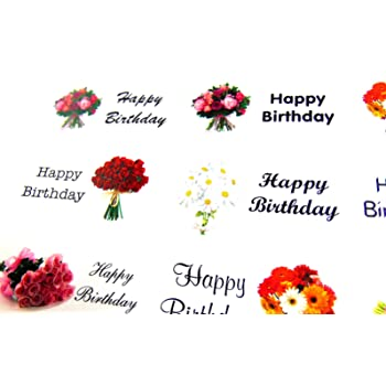 Happy birthday greeting stickers gold self stick labels for cards happy birthday rectangle greeting stickers colour on clear self stick labels for cards envelopes craft decoration m4hsunfo