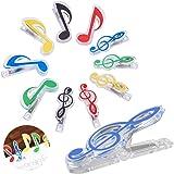 xianzhanEU 12 PCS Music Symbols Binder Clips,Partitions Pince Papier,pour Papiers Feuilles,Documents,Notes Photos-Fourniture