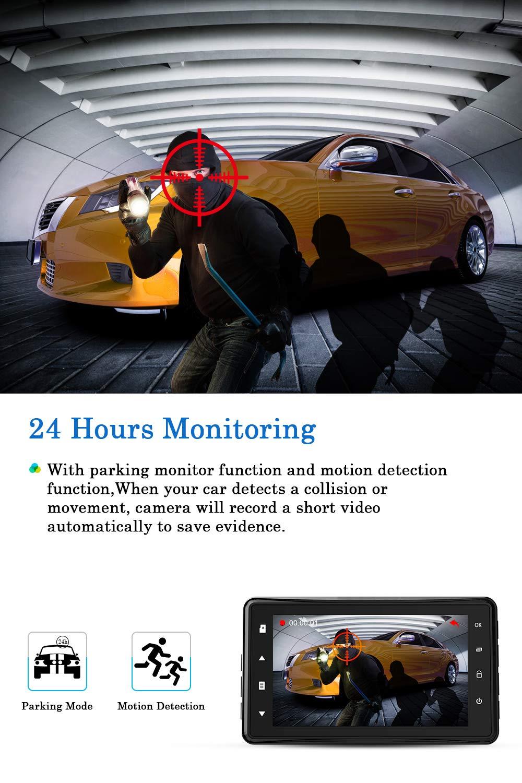 Chortu-Dashcam-2019-Dashcam-1080P-Full-HD-Auto-Kamera-DVR-Armaturenbrett-Kamera-Fahren-Video-Recorder-76-cm-Bildschirm-170-Weitwinkel-mit-Loop-Aufnahme-Park-Monitor-Bewegungserkennung-G-Sensor