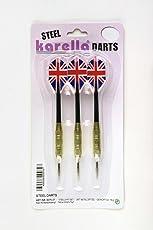 Karella Steeldart Blister-Set 3 Stück Gewicht 18 gr, Metallspitzen