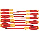 Wiha 32094 Slotted and Phillips Insulated Screwdriver Set, 1000 Volt, 10 Piece