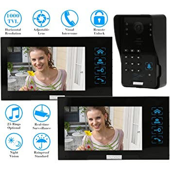 Kkmoon Video Doorbell 7 Inches Video Door Entry System With Key 1