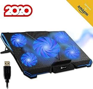 KLIM™ Cyclone Refroidisseur Ordinateur Portable Le Plus Puissant Refroidissement Ultra Rapide 5 Ventilateurs Silencieux Refroidisseur PC