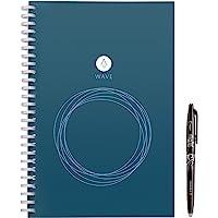 Rocketbook Wave - Taccuino Digitale, 80 Pagine, Quaderno, Riutilizzabile, Copertina Rigida, Smart Notebook con Penna…