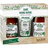 alkmene Trio-Set Bio Olive, Geschenkset mit Cremeöl Duschgel, Cremeöl Lotion und Handcreme für sehr trockene Haut - 1er Pack (1x1 Stück)