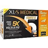 XL-S MEDICAL Forte 5 Pastiglie Dimagranti Forte, Trattamento Dimagrante con 5 Benefici in 1, App My Nudge Plan Inclusa, 180 C