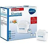 Cartouche de filtre à eau Brita Maxtra+, blanche, Plastique, blanc, Pack of 12