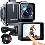 APEMAN Action Cam A100, Touch Screen Nativo 4K/50FPS 20MP WiFi Impermeabile 40M Fotocamera, Avanzato Sensore Super EIS Stabil