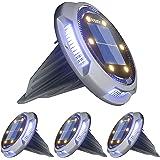 Solar Bodenleuchten, Ansody 6+4 LEDs Solarlampen für Außen Gartenleuchte mit Upgrade Solarpanel IP65 Wasserdich Led Solarleuc