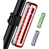 Volcano Eye Luce Posteriore Bicicletta LED, Fanale Posteriore Bici Ricaricabile 7 modalità di Illuminazione - Rosso Verde Blu