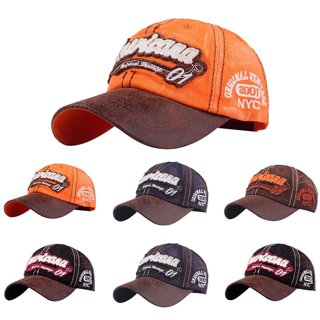 Topgrowth Cappello da Cowboy Cappello con Visiera Uomo Unisex Baseball  Cappelli Sportivi Ricamo Classico Cappello Visiera Piatta Cappello   Cappelli  da ... 4ddb8ea3729f