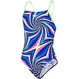 Speedo Girl's Candyflash Allover Digital Crossback Swimsuit