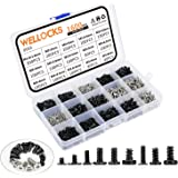WELLOCKS Mini Tornillo 1600 PCS M1.6 M2 M2.6 M3 Micro tornillos de alta precisión, kit de pequeños tornillos electrónicos Kit
