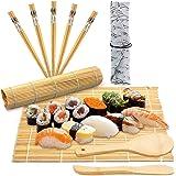 BESTZY 10PCS Kit Sushi,Kit de Préparation à Sushi et Maki,Appareil Sushi