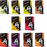 KAMA SUTRA Flavours Dotted Condoms (Pack of 10, s/100 Nos), Combo of Total 10