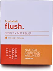 Flush: Effective Relief From Constipation - 100% Natural And Vegetarian, Ayurvedic Triphaladi 60 X 500 Mg Tablets