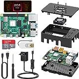 TICTID Raspberry Pi 4 Modelo B 8GB Kit, Versión Actualizada de Raspberry pi 3 con Tarjeta MicroSD de 128GB, Adaptador tipoC 5