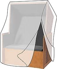 WOLTU® Schutzhülle Schutzhaube für Standkorb Gartenmöbel Abdeckplane Abdeckhaube Gewebeplane Plane Hülle Abdeckung transparent