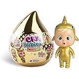 Bebés Llorones Lágrimas Mágicas Casita Dorada (Golden Edition)- Mini bebé llorón sorpresa coleccionable con lágrimas y acceso