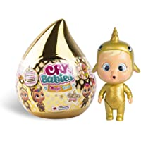 Cry babies Magic Tears Casetta dorata, Mini Bambola Dorata a Sorpresa da Collezione con Lacrime Vere e Accessori, Golden…