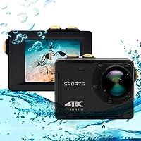 Caméra d'action 4K, Vmotal GSV8580 WiFi Ultra HD 16MP Caméra d'action étanche avec Objectif Grand Angle de 140 degrés (6…
