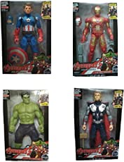 Oviwa Avengers Hulk, Captain America and Iron Man with Weapons Twist and Move Age of Ultron Action Figure, 19cm with LED Light function