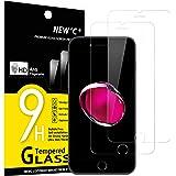 NEW'C 2 Unidades, Protector de Pantalla para iPhone 7 y iPhone 8, Antiarañazos, Antihuellas, Sin Burbujas, 9H, 0.33 mm Ultra