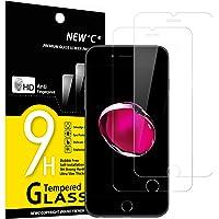NEW'C 2 Stück, Schutzfolie Panzerglas für iPhone 7 und iPhone 8, Frei von Kratzern, 9H Härte, HD Displayschutzfolie, 0…