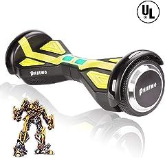 Self Balance Scooter Skateboard (Transformers Style) - E-Board - UL zertifiziertes selbstausgleichendes Schwebebrett, Zweirad selbstbalancierender Roller (2018 neues Design)