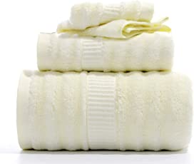 Mush Ultra Soft, Absorbent and Antimicrobial 600 GSM 3 Piece (Bath, Hand and Face) Bamboo Towel Set