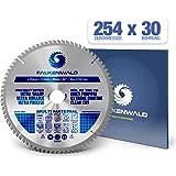FALKENWALD ® Kreissägeblatt 254 x 30 mm - Ideal für Holz, Metall & Alu - Kappsägeblatt kompatibel mit Gehrungssäge…
