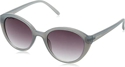 Fastrack UV Protected Oval Women's Sunglasses - (P350BK3F 50 Smoke (Grey/Black) Color)